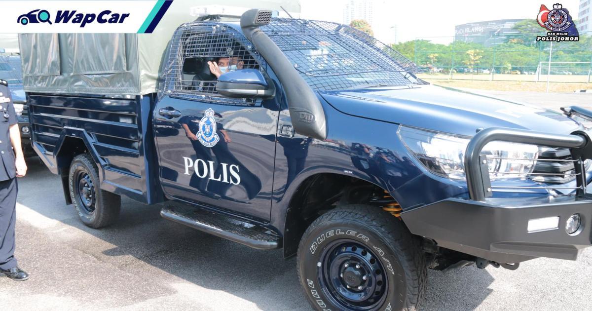 Toyota Hilux jadi pilihan terbaru kontinjen Polis Johor, ganti Land Rover lama! 01