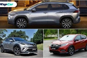 Toyota Corolla Cross, how big is it vs Honda HR-V and Toyota C-HR?