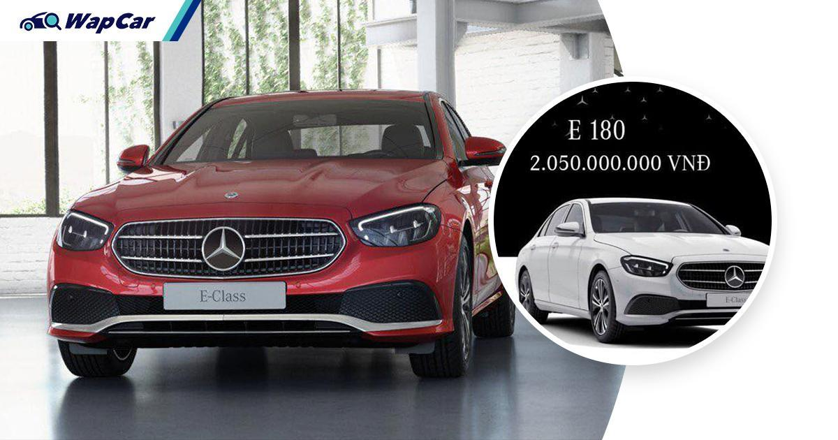 2021 Mercedes-Benz E180 introduced in Vietnam, less power than Civic 01