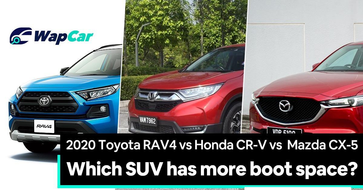 2020 Toyota RAV4 vs Honda CR-V vs Mazda CX-5 – Which one has more boot space? 01