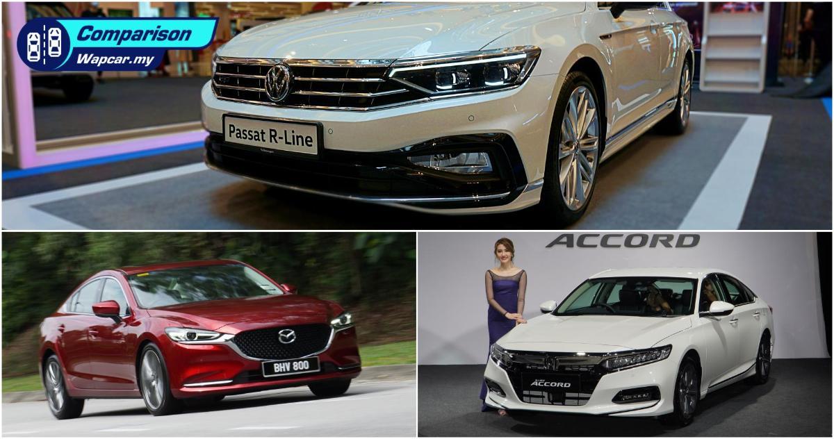 Turbo Battle: Volkswagen Passat R-Line vs Honda Accord vs Mazda 6 01