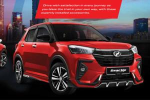 These Gear Up accessories on the 2021 Perodua Ativa activate its fierce side