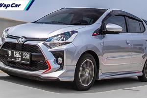 Toyota Agya TRD – saudara kembar Perodua Axia di Indonesia!