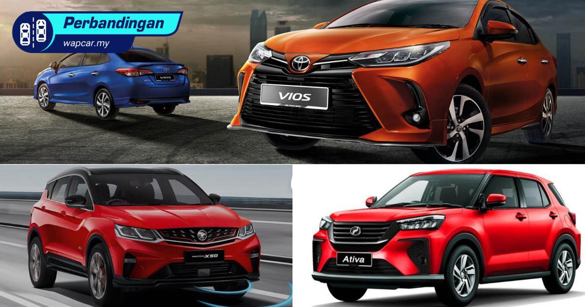 Mana lagi baloi beli, Perodua Ativa (D55L) vs Proton X50 vs Toyota Vios? 01