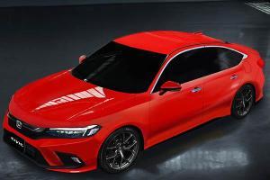 2022 Honda Civic 11th gen rendered, looks like the Accord?