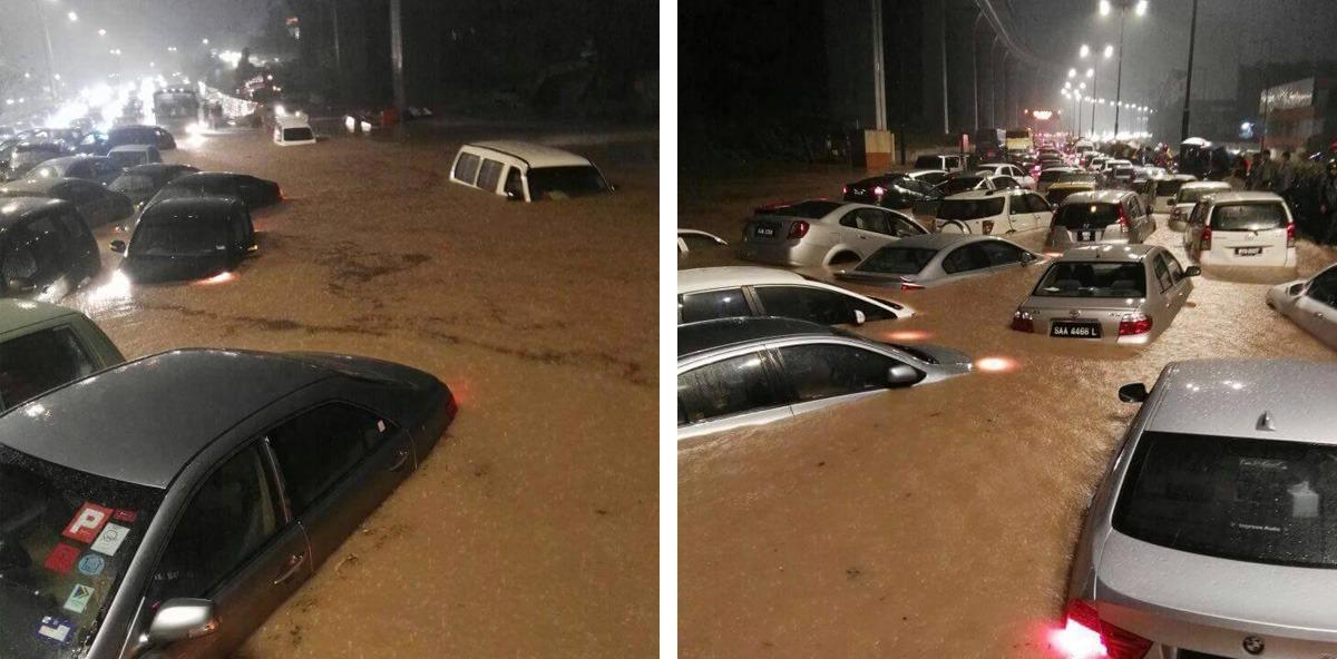 Flash flood in Kuala Lumpur
