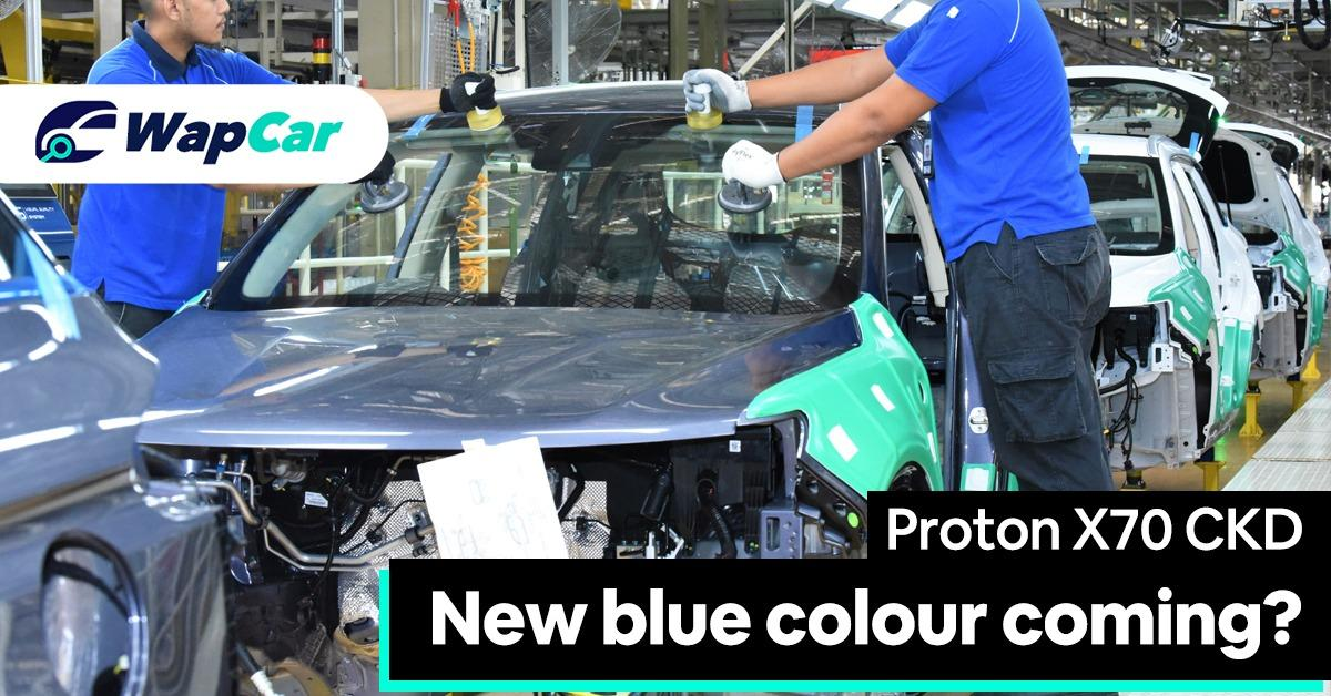 Proton X70 CKD: New blue colour option coming? 01