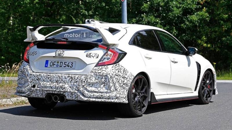 Spy Shots: What's New for FK8 Honda Civic Type R facelift?    02