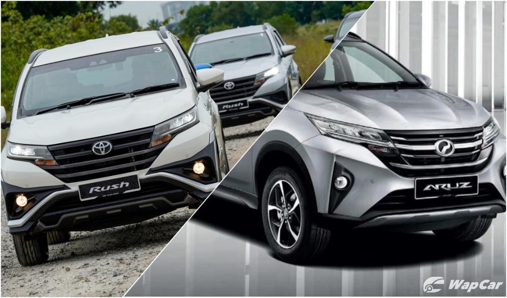 Toyota Rush and Perodua Aruz front