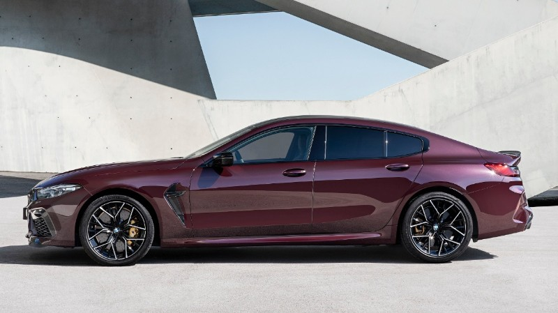 BMW M8 launch side profile