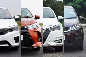 Ratings: Which is the most spacious? Vios, City, Almera, or Persona?