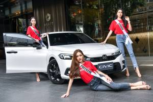 A free 2022 Honda Civic FE for winner of 2021 Miss Universe Thailand