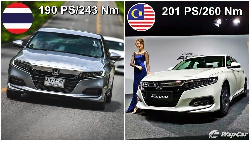 Malaysia's Honda Accord makes more power than Thailand's – 11 PS/17 Nm more, why? 01