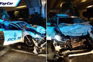 VW Golf GTI cabut lari, peronda Honda Civic kejar sampai hancur!