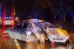 Another Proton Waja involved in fast and furious escape from police; Suspect dies in crash