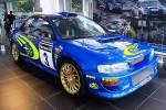 Lucky Indo Subaru fans get to see Richard Burns' Subaru Impreza WRC up close and personal