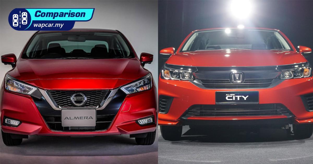 All-new 2020 Nissan Almera vs Honda City – Which B-segment sedan to get? 01