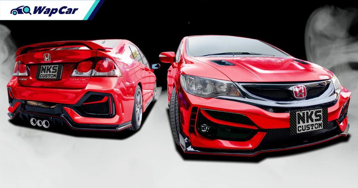 Minat Honda Civic Type R FK8 tapi pakai FD? Tukar kit badan FK8 je! 01