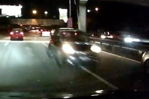 Watch: Rogue Myvi driving against traffic on Federal Highway