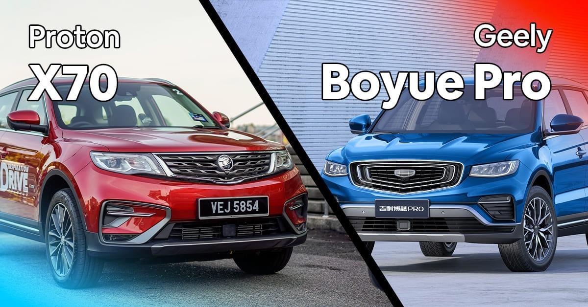 2020 Proton X70 CKD vs Geely Boyue Pro