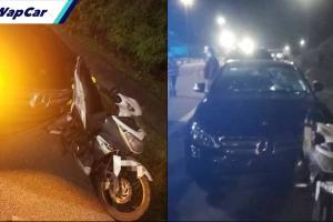 Penunggang motosikal maut disodok kereta Merc, pemandu mabuk