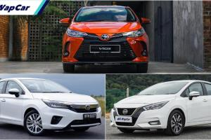 Honda City vs Nissan Almera vs Toyota Vios – sedan segmen B mana paling jimat minyak?