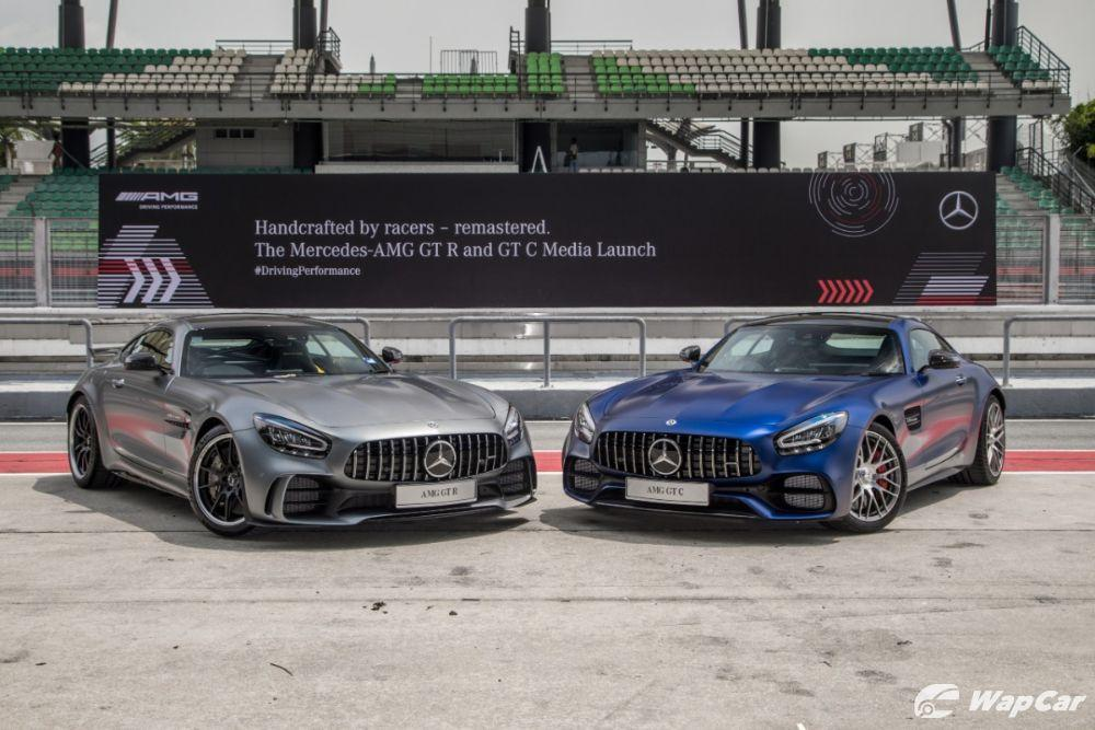 Mercedes AMG GT-C and GT-R front