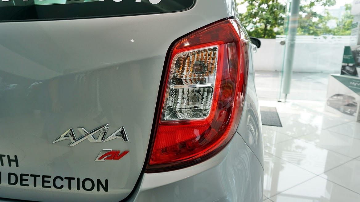 Perodua Axia rear detail