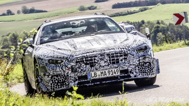 All-new Mercedes-AMG SL Roadster hits the road, up to 800 PS with hybrid V8! 02