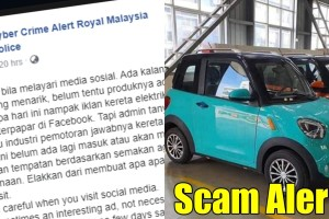 """Police warns the RM 13.8k """"Mini"""" EV X2 is a scam!"""