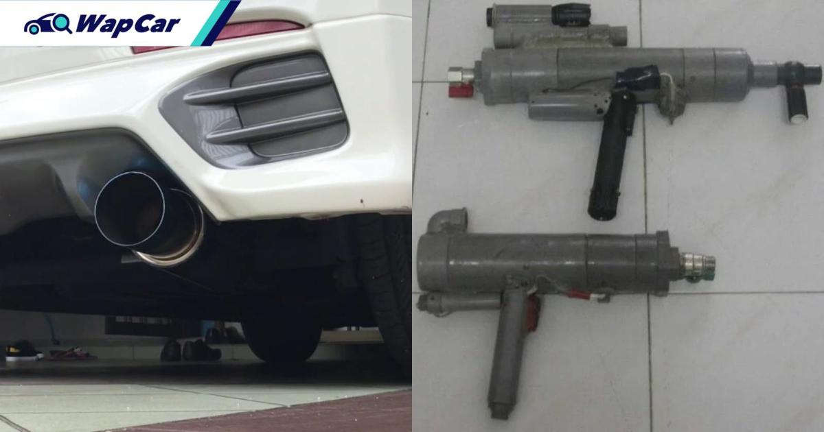 Myvi driver's frequent loud exhaust testing leads neighbour to shoot car with air gun 01
