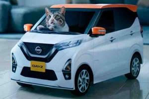 Nissan turned the Nissan Dayz Kei car into an EV for cats!