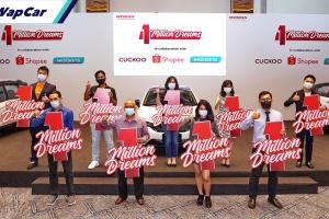 3 pemenang bertuah bawa pulang Honda City, HR-V dan BR-V edisi 1 Million Dreams!