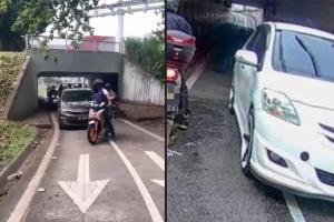 Salah Waze: pemandu Vios dan Bezza yang memandu di lorong motosikal guna alasan sama