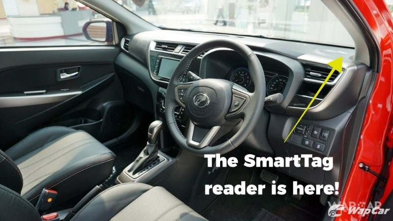 Perodua Myvi Smart Tag reader placement