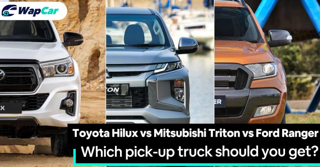 Toyota Hilux vs Mitsubishi Triton vs Ford Ranger: Which should be your next pick-up truck? 01