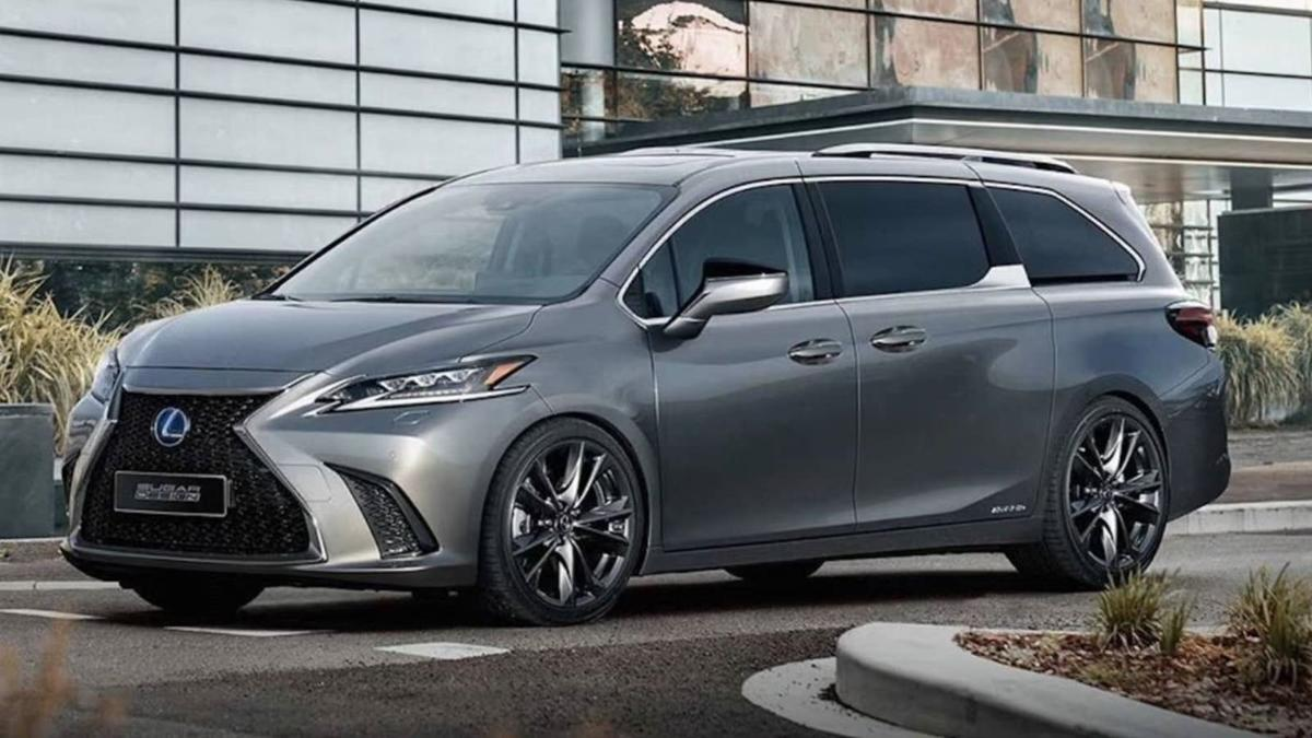 Someone grafted a Lexus 'Spindle Grille' onto a Camry-based Toyota Sienna 01
