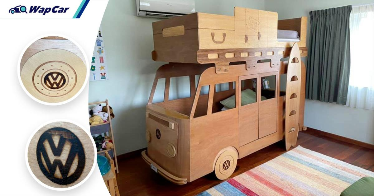 This Malaysian dad built his sons a VW Kombi bus bunk bed. It's now on sale 01