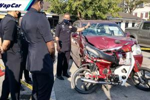 Pemandu Avanza mabuk rempuh motosikal EX5, seret 1.5 km. Penunggang maut