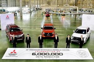 Mitsubishi Motors Thailand's 6 millionth unit is this strikingly orange Triton