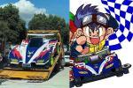 Let's look at this life-size Mitsubishi-powered Tamiya car & watch it go!