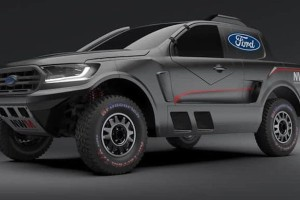 This Ford Ranger makes 405 PS and has gull-wing doors