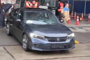 谍照爆料:量产版2022 Honda Civic FE现身中国