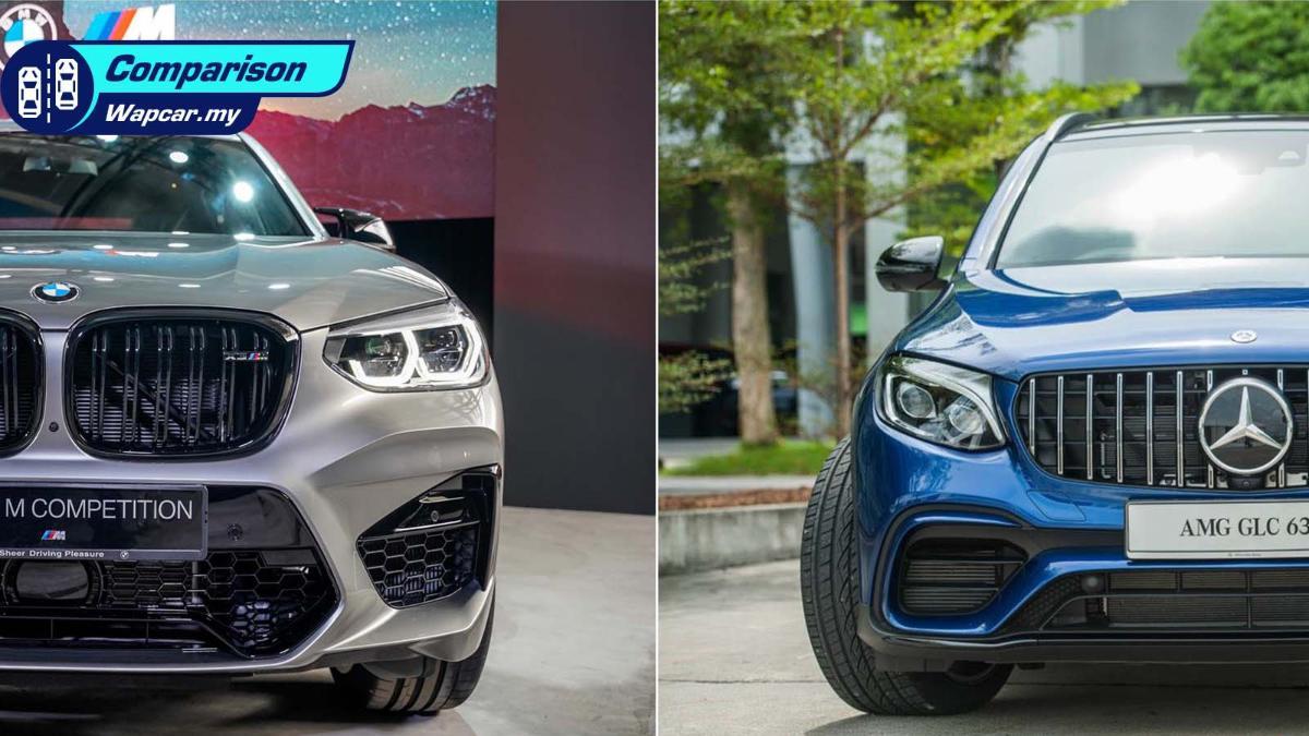 Specs comparison: 2020 BMW X3 M Competition vs Mercedes-AMG GLC 63 S 01