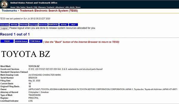 Toyota memfailkan paten untuk nama 'BZ' – Adakah ia Toyota 86 yang akan datang? 02