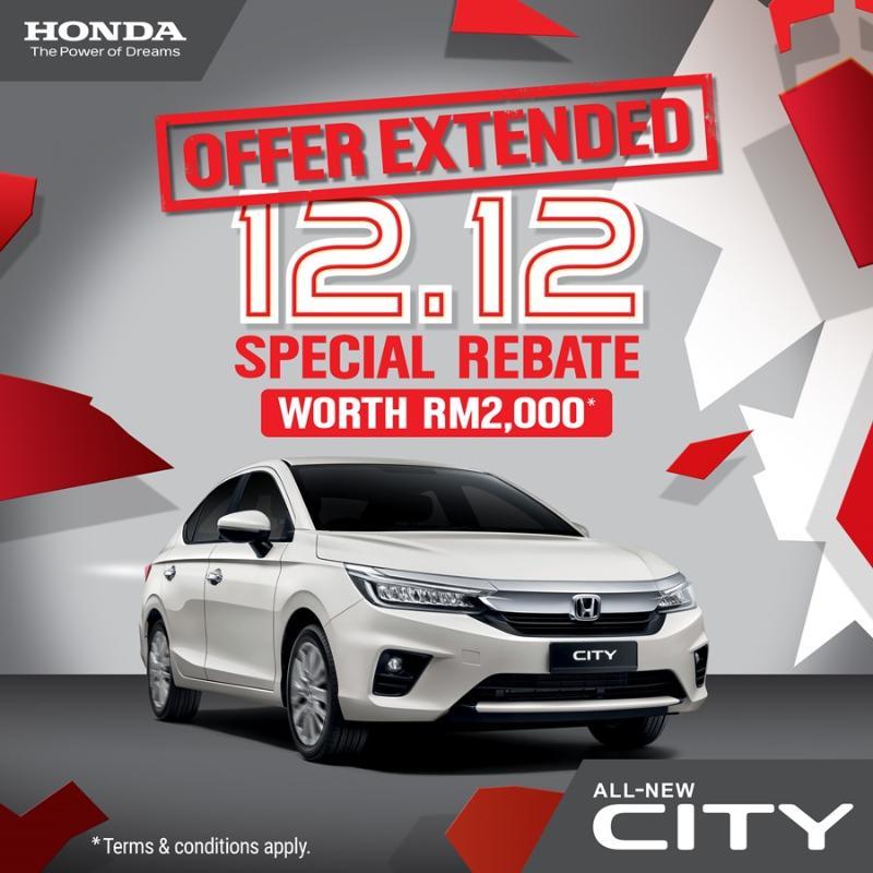 Honda extends 12.12 City sale until 31-Dec! 02