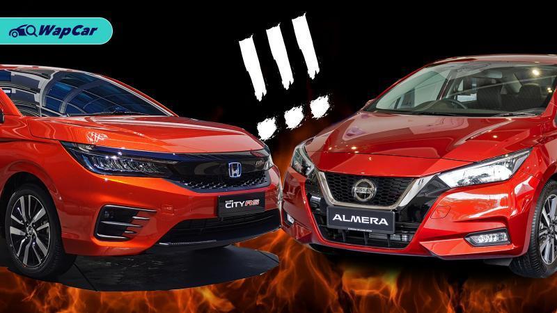 Nissan Almera vs Honda City, turbo atau hibrid? 01