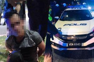 Penangan lambang H, samseng curi Honda Civic polis demi awek!