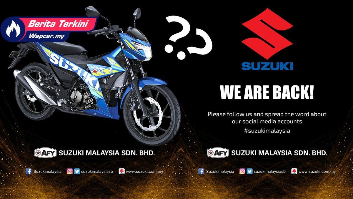 Suzuki umum kembali ke pasaran Malaysia. Sasar motosikal moped atau berkuasa tinggi? 01