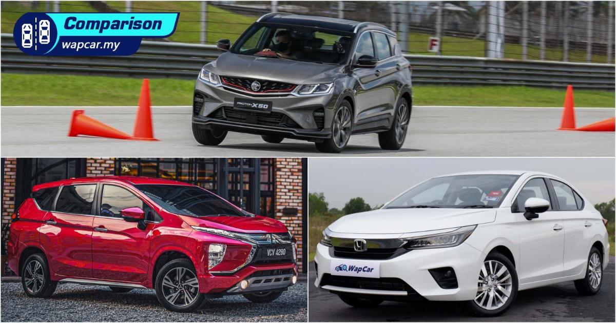 Maintenance cost comparison: Proton X50, Honda City, Mitsubishi Xpander - Which car is the cheapest? 01